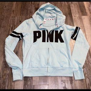 Victoria's Secret pink zip up jacket sweatshirt